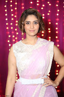 Surabhi in Designer Pink Saree and White Sleeveless Choli at Zee Telugu Apsara Awards 2017 11.JPG