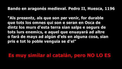 los castellanos y los demás mercaderes españoles que allí [en Valencia] se hallaban, que hablaban casi la mesma lengua de los aragoneses,