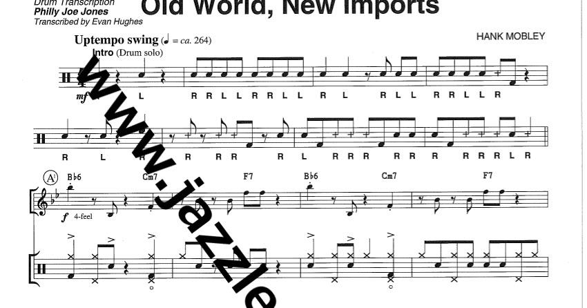 THE JAZZ DRUM CORNER: Philly Joe Jones Drum Transcription