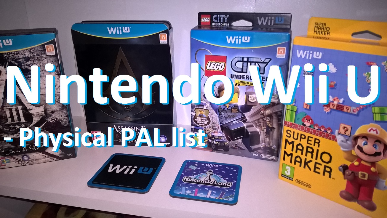 konsol ting: nintendo wii u - physical pal list