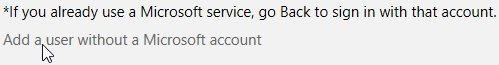 Windows 8, paramètres PC, Ajouter un utilisateur. Pour créer un nouvel utilisateur avec un compte Microsoft, entrez l'adresse e-mail. Ensuite, cliquez sur Suivant.