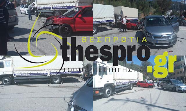 Τροχαίο ατύχημα πριν λίγο στην Ηγουμενίτσα (+ΦΩΤΟ)