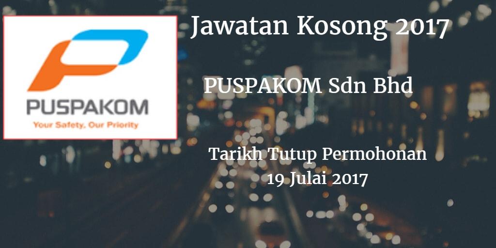Jawatan Kosong PUSPAKOM Sdn Bhd 19 Julai 2017