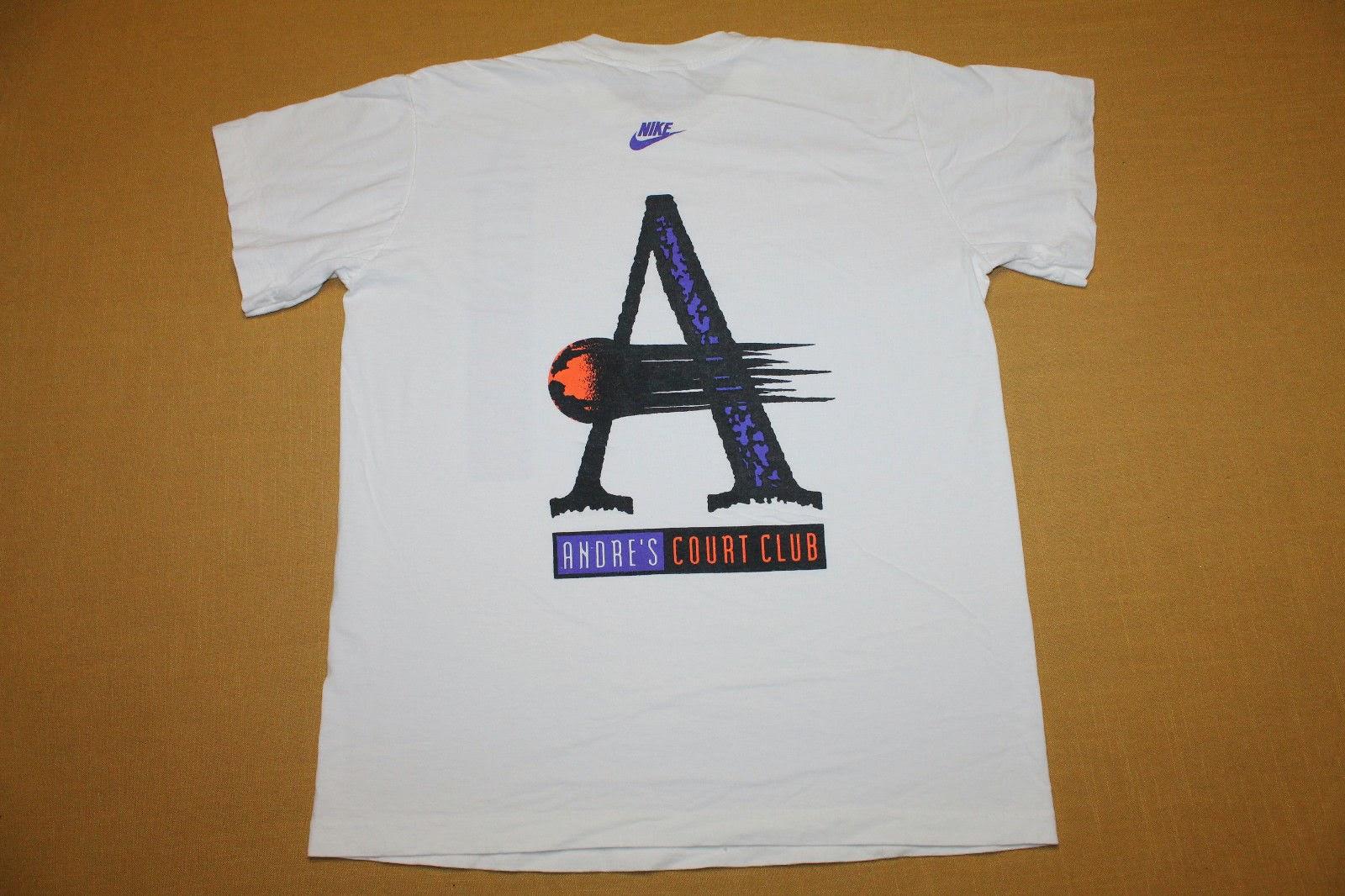 de6207ff 90s NIKE andre agassi challenge court t shirt   vintage t-shirt