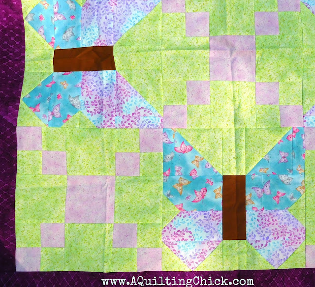 A Quilting Chick - Butterfly Trellis - Close