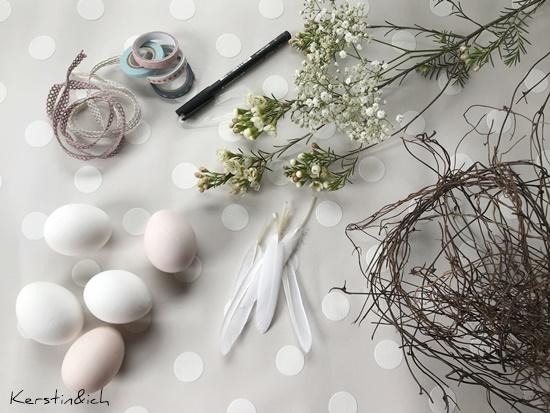 DIY Ostereier Indianerostereier Ostereihasen Ostern Eier Selbermachen Ostereier Matterial