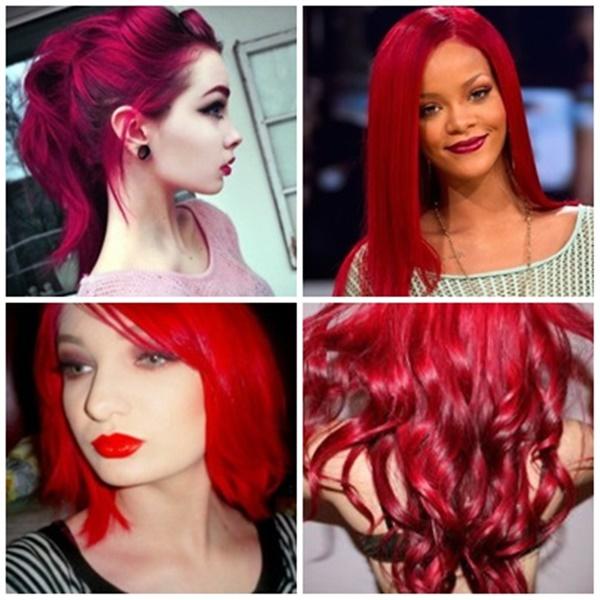 tons de vermelho para os cabelos