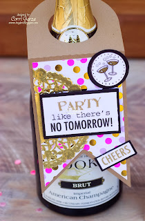 SRM Stickers - New Year's by Corri - #new years #card #stickers #wine bottle cover