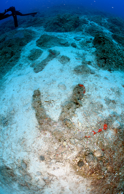 Underwater archaeological research conducted off southern coast of Greek island of Naxos