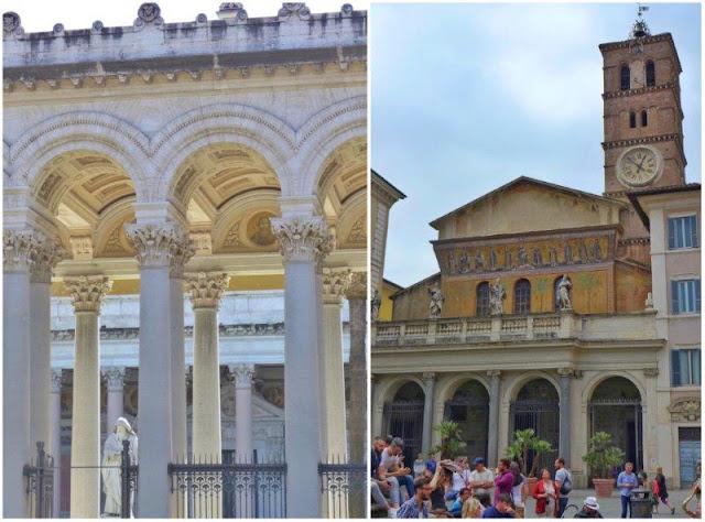 San Paolo fuori le Mura y Santa Maria in Trastevere en Roma