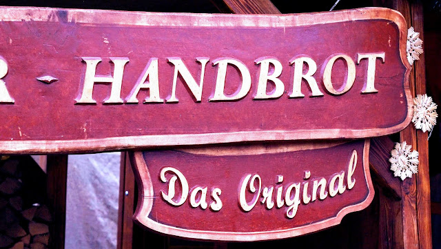 Handbrot sign at the Christmas Market in Berlin, Germany