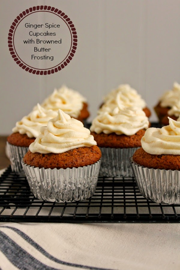 Ginger Spice Cupcakes with Browned Butter Frosting | The Chef Next Door