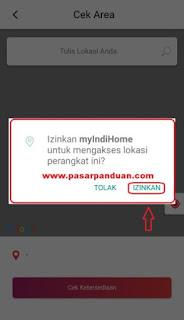 izinkan aplikasi myindihome mengakses lokasi ponsel