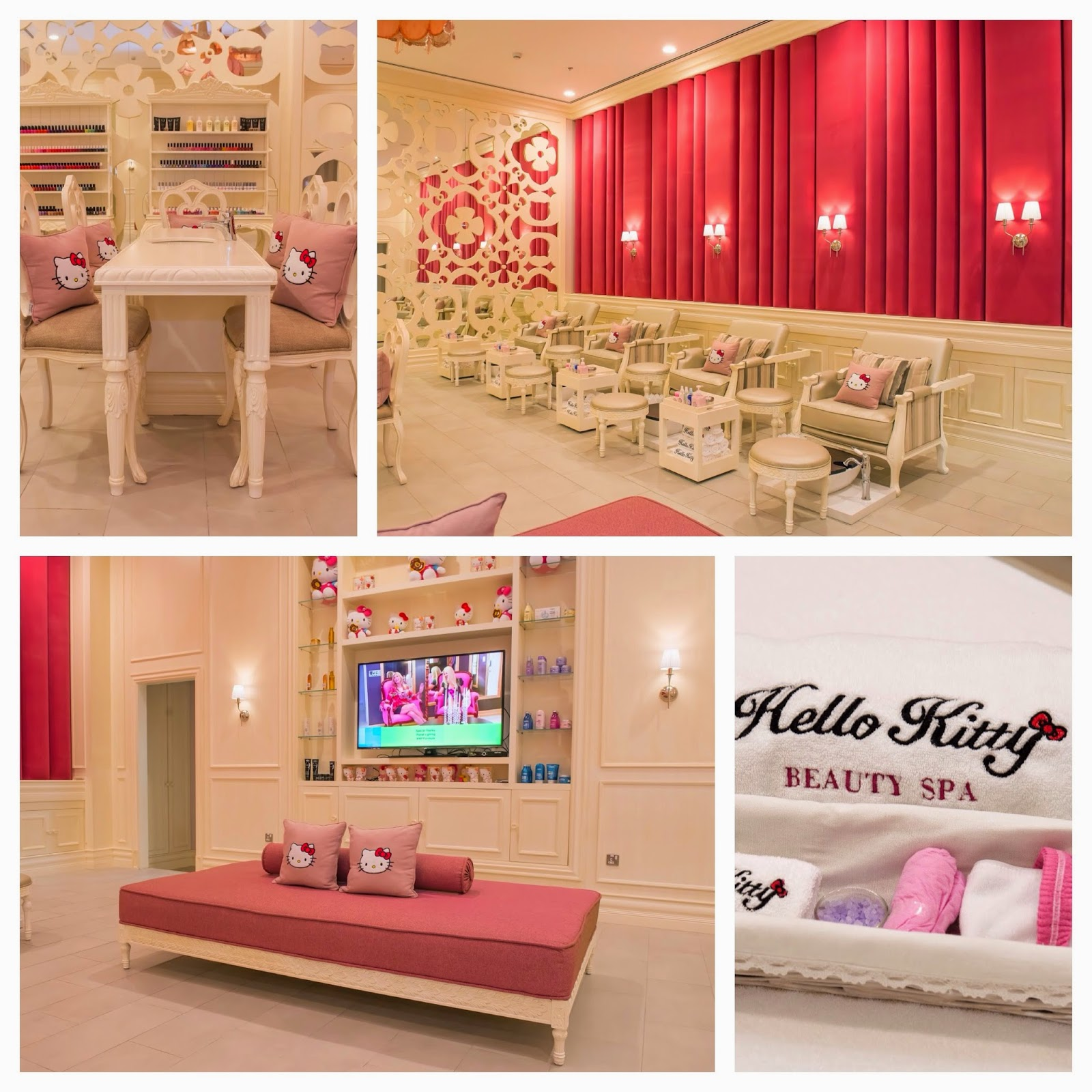 Hello Kitty Spa Pedicure Chair Best Design Of All Time Grand Opening The Dubai Mall  Mommy In