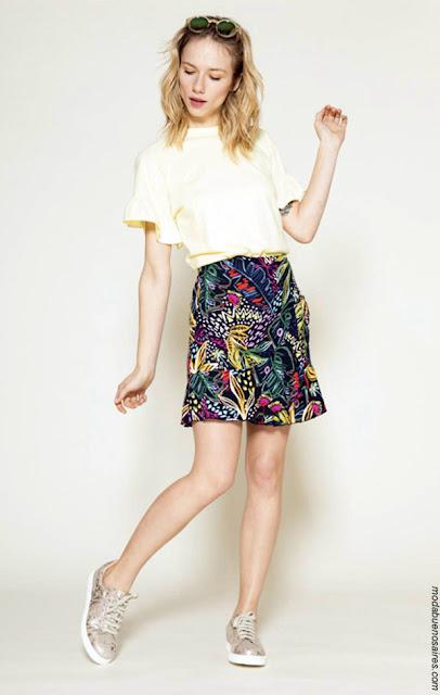 Faldas y shorts primavera verano 2018. Ropa de mujer primavera verano 2018.