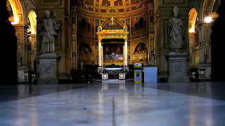 The interior of the church of San Lorenzo in Damaso in Rome, where Clementi was baptized and was later organist