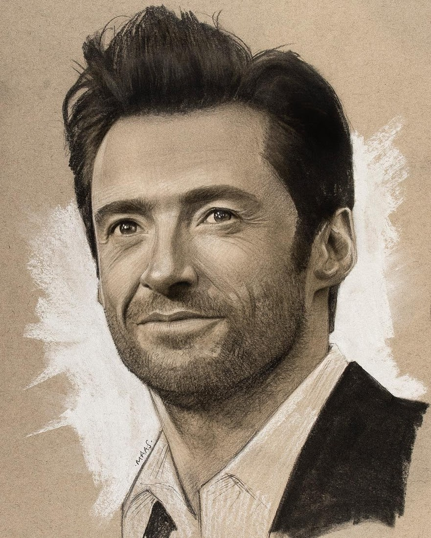 03-Hugh-Jackman-Justin-Maas-Pastel-Charcoal-and-Graphite-Celebrity-Portraits-www-designstack-co