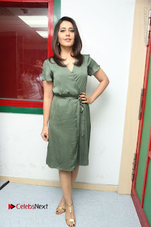 Actress Raashi Khanna Stills in Green Short Dress at Mirchi 95 Suno Aur Mercedes Jeeto Contest  0149.JPG