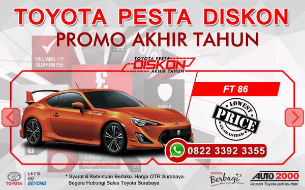 Promo Akhir Tahun Toyota FT 86 Surabaya