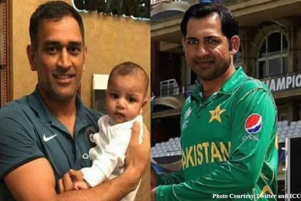 mahendra-singh-dhoni-selfie-with-pakistan-captain-sarfaraz-son