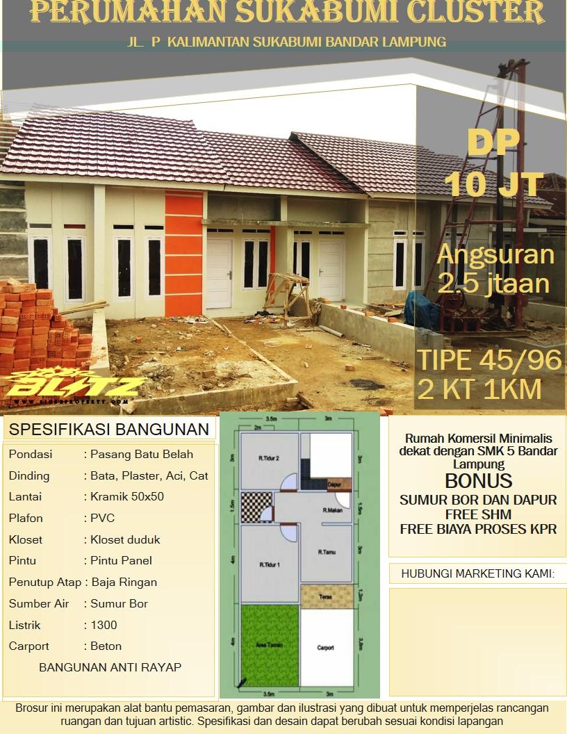 Rumah Minimalis Smk 5 Sukabumi Bandar Lampung Siger Property