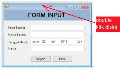 5 - Tutorial Vb.Net - Cara membuat Form Simpan(Input) Ke Database Mysql Memakai Connector Odbc