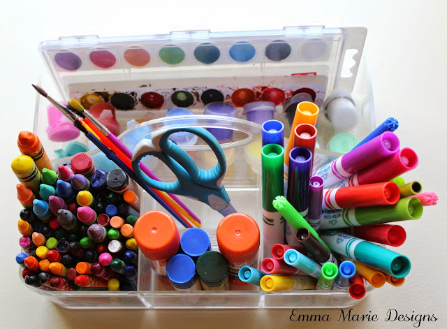 Organized Children's Craft Supplies