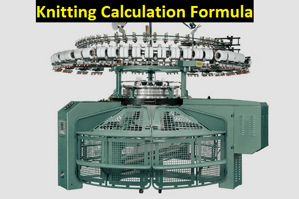 Knitting Calculation Formula in textile