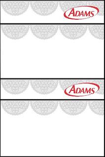 Silver Lace Free Printable Gum Adams Labels