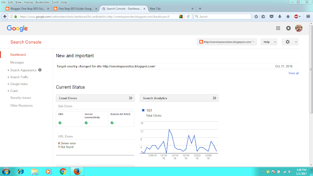 Google Webmasters Search Console