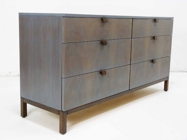 Milo Baughman For Directional 6-Drawer Mid-Century Modern Dresser Front Angle