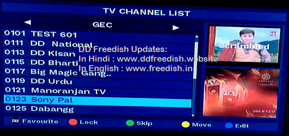 Dd free dish channel list 2020 mpeg2