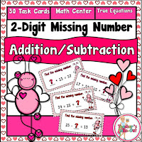 Missing 2 Digit Addition and Subtraction Equations