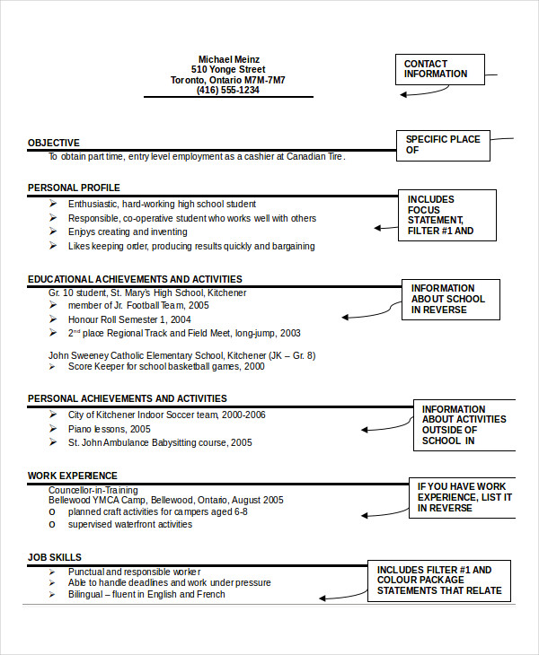 Student-Resume-Format How To Format A Cover Pg E For Resume on