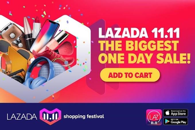 Lazada 11.11 Shopping Festival : JUALAN SEHARI TERBESAR