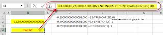 Parte decimal de un número con Excel
