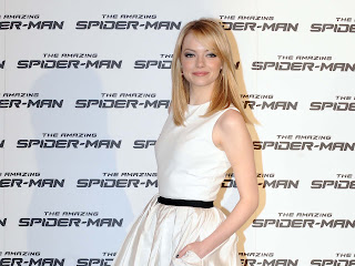 Emma Stone at Spiderman premier
