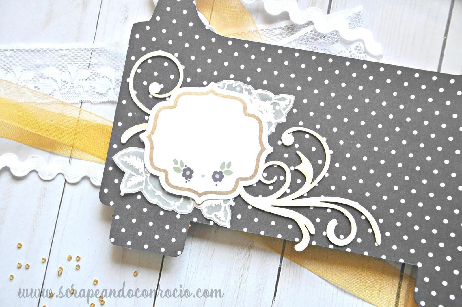 para las de las pginas del lbum he usado recortables de la coleccin de papeles con de flores embossadas en papel