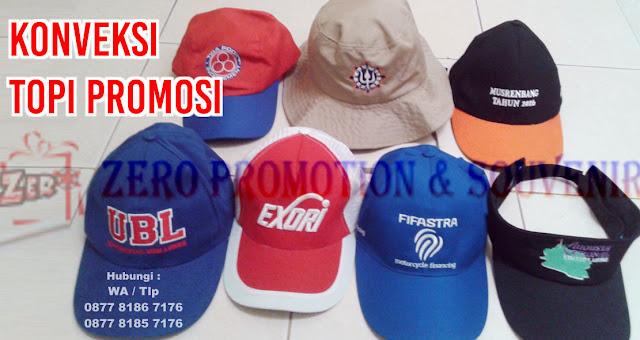 Konveksi Topi Promosi Terpercaya di Tangerang, Jual Topi Promosi, Konveksi Topi Bordir GROSIR