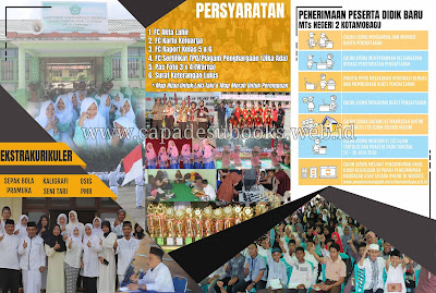 Foto: contoh brosur ppdb  madrasah