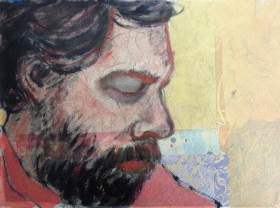 portrait of ryan statz  oil on paper