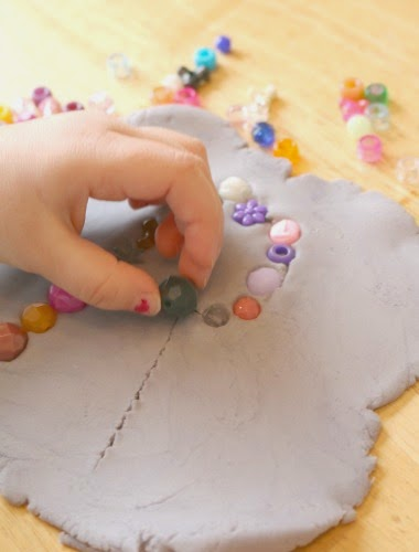 fine motor activity using play dough