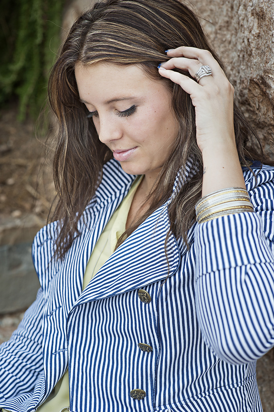 Striped Blazer, Utah Fashion Blogger, Modest Fashion Blogger