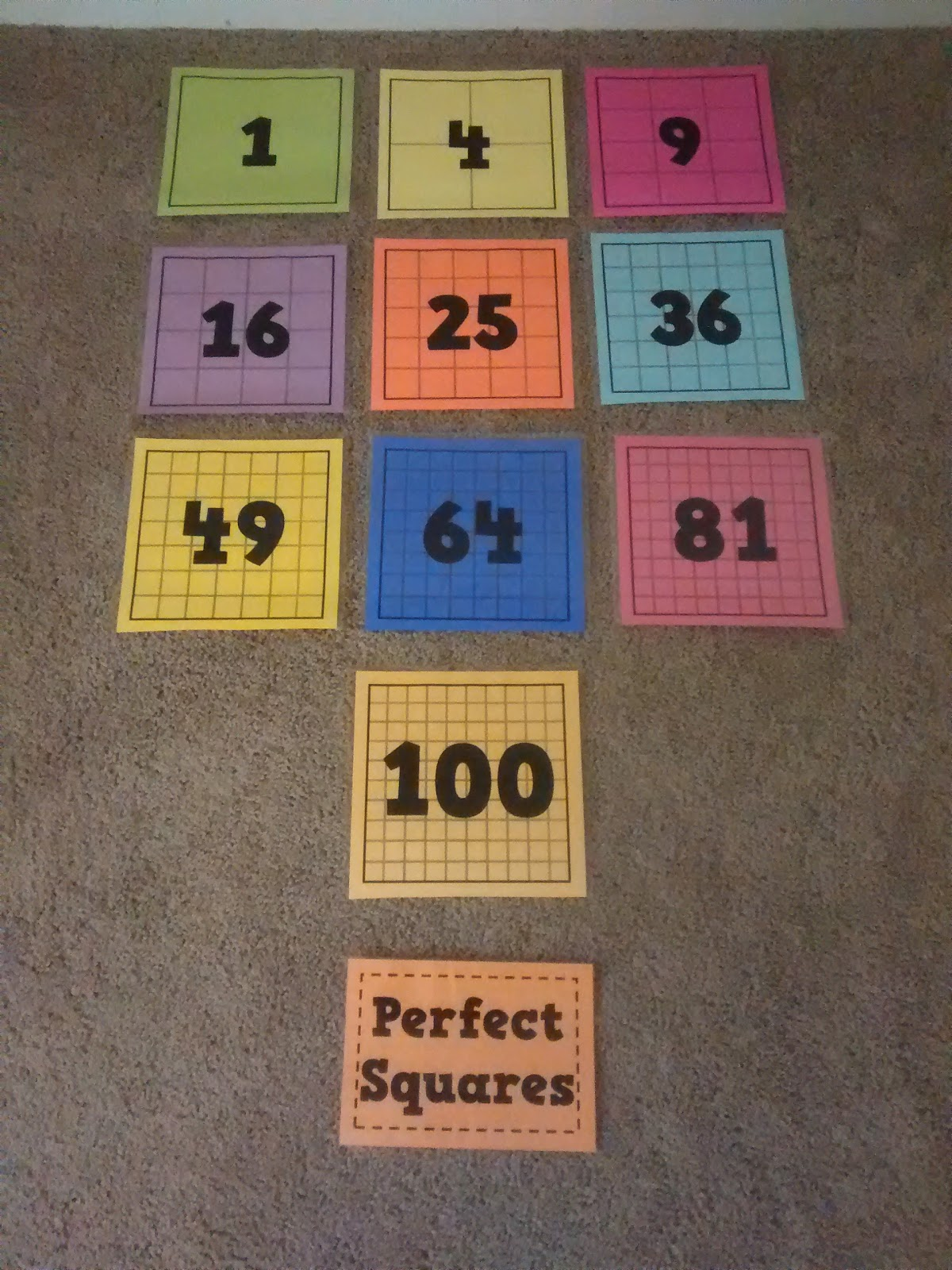 Math = Love: Posters of Perfect Squares and Perfect Cubes