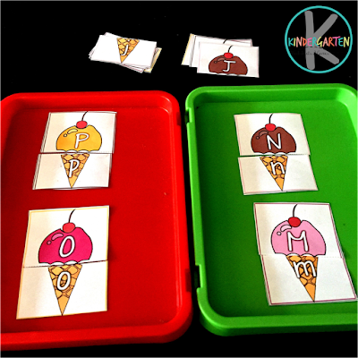 alphabet tray activity for preschool, prek, kindergarten perfect for back to school or summer learning
