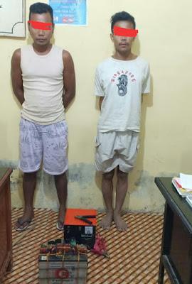 Unit Reskrim Polsek Panai Hilir Amankan Dua Orang Warga Sei Berombang