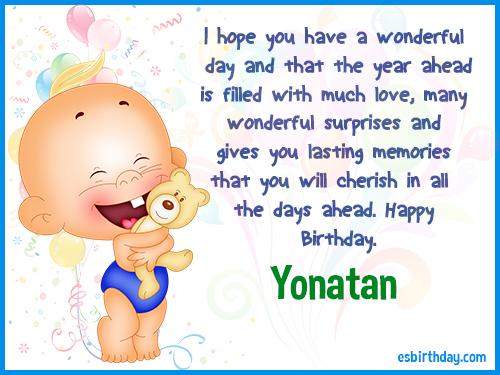 Yonatan Happy birthday