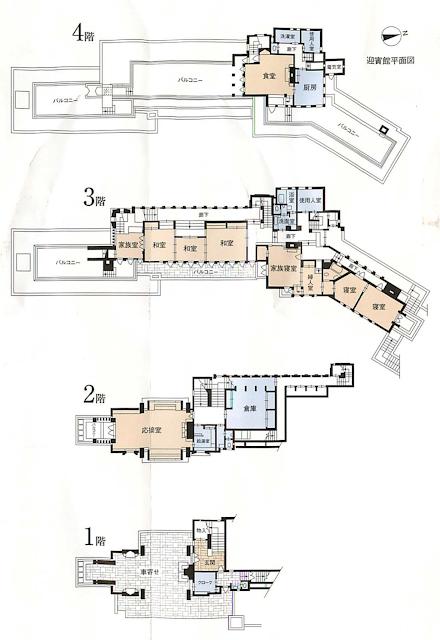 旧山邑邸の平面図