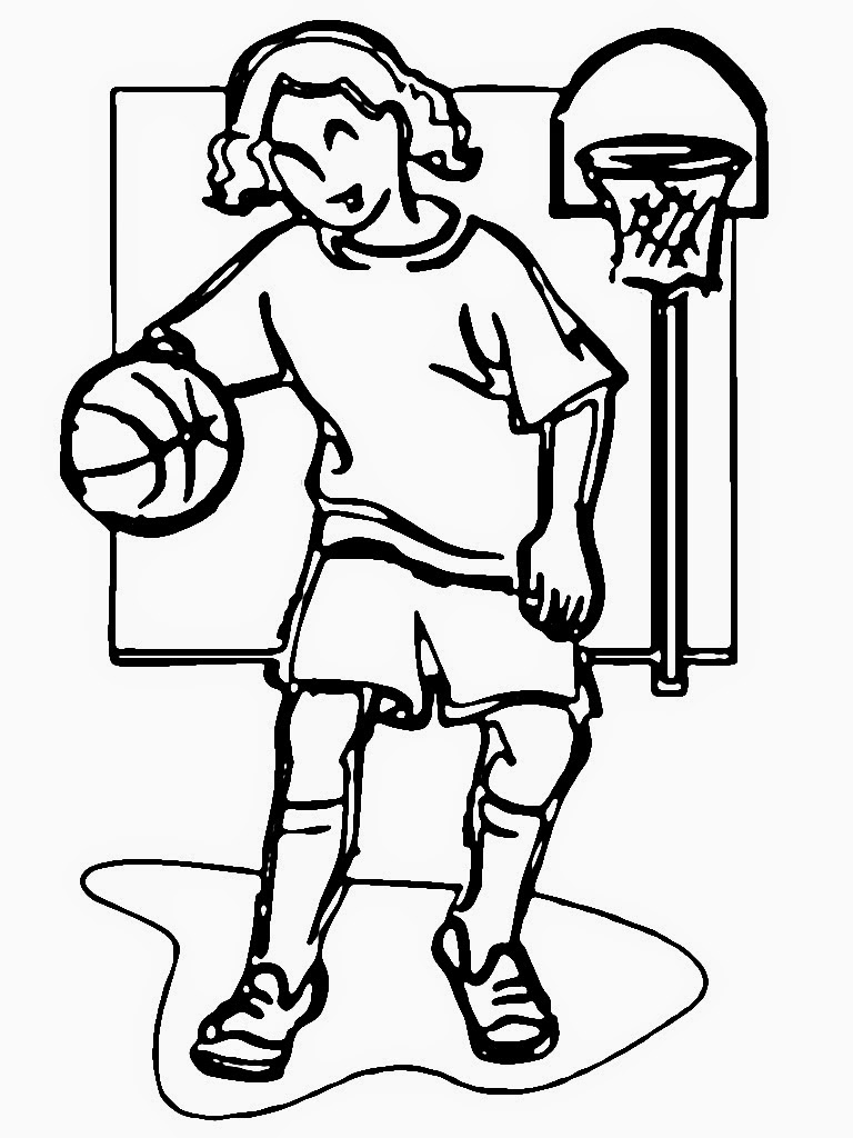 girl basketball player coloring pages