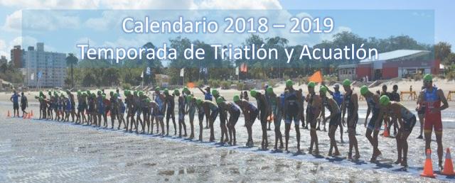 Calendario 2018 - 2019 del campeonato uruguayo de triatlón, acuatlón e Ironman
